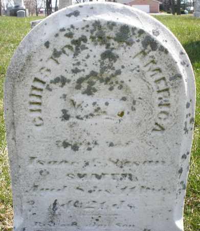 SNYDER, CHRISTOPHER AMERICA - Montgomery County, Ohio | CHRISTOPHER AMERICA SNYDER - Ohio Gravestone Photos