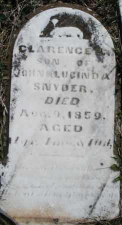 SNYDER, CLARENCE - Montgomery County, Ohio | CLARENCE SNYDER - Ohio Gravestone Photos