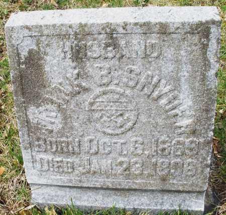 SNYDER, FRANK B. - Montgomery County, Ohio | FRANK B. SNYDER - Ohio Gravestone Photos