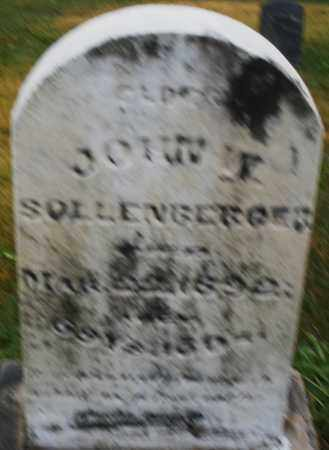 SOLLENBERGER, JOHN W. - Montgomery County, Ohio   JOHN W. SOLLENBERGER - Ohio Gravestone Photos