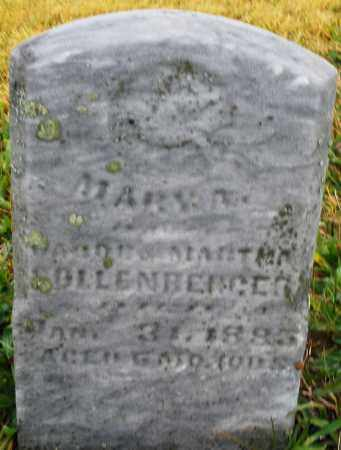 SOLLENBERGER, MARY A. - Montgomery County, Ohio   MARY A. SOLLENBERGER - Ohio Gravestone Photos