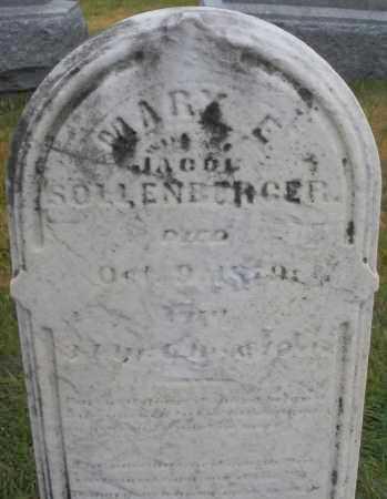 SOLLENBERGER, MARY E. - Montgomery County, Ohio   MARY E. SOLLENBERGER - Ohio Gravestone Photos