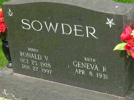 SOWDER, RONALD V - Montgomery County, Ohio | RONALD V SOWDER - Ohio Gravestone Photos