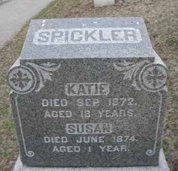 SPICKLER, KATIE - Montgomery County, Ohio | KATIE SPICKLER - Ohio Gravestone Photos