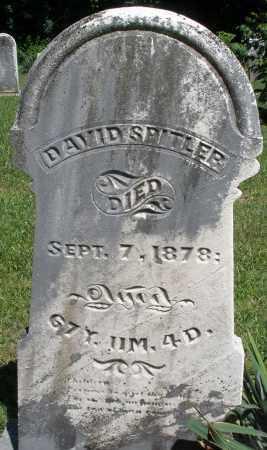 SPITLER, DAVID - Montgomery County, Ohio   DAVID SPITLER - Ohio Gravestone Photos