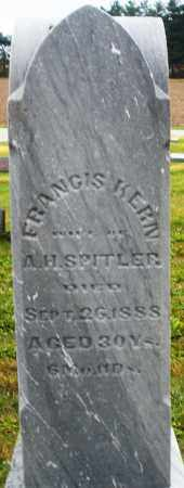 SPITLER, FRANCIS - Montgomery County, Ohio | FRANCIS SPITLER - Ohio Gravestone Photos