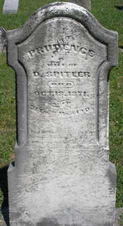 SPITLER, PRUDENCE - Montgomery County, Ohio   PRUDENCE SPITLER - Ohio Gravestone Photos