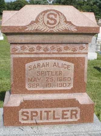 SPITLER, SARAH ALICE - Montgomery County, Ohio   SARAH ALICE SPITLER - Ohio Gravestone Photos