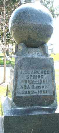 SPRING, J. CLARENCE - Montgomery County, Ohio | J. CLARENCE SPRING - Ohio Gravestone Photos