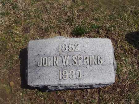 SPRING, JOHN W. - Montgomery County, Ohio | JOHN W. SPRING - Ohio Gravestone Photos