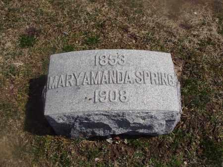 SPRING, MARY AMANDA - Montgomery County, Ohio | MARY AMANDA SPRING - Ohio Gravestone Photos