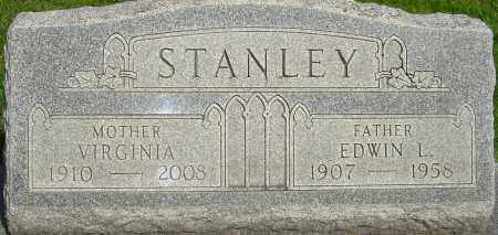 STANLEY, EDWIN L - Montgomery County, Ohio   EDWIN L STANLEY - Ohio Gravestone Photos