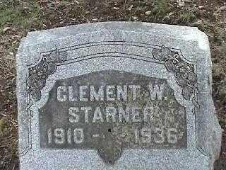 STARNER, CLEMENT W. - Montgomery County, Ohio   CLEMENT W. STARNER - Ohio Gravestone Photos