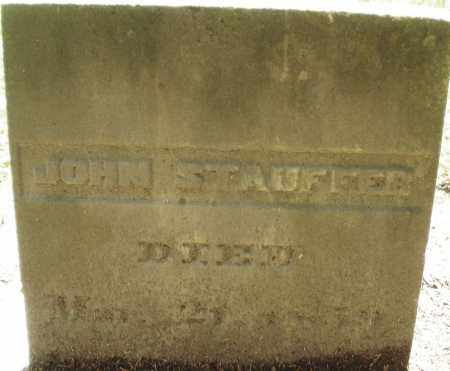 STAUFFER, JOHN - Montgomery County, Ohio | JOHN STAUFFER - Ohio Gravestone Photos