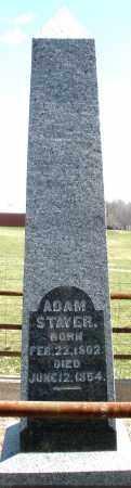STAVER, ADAM - Montgomery County, Ohio | ADAM STAVER - Ohio Gravestone Photos