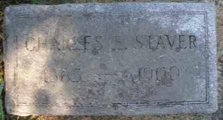 STAVER, CHARLES E. - Montgomery County, Ohio   CHARLES E. STAVER - Ohio Gravestone Photos