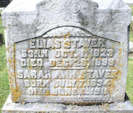 STAVER, SARAH ANN - Montgomery County, Ohio | SARAH ANN STAVER - Ohio Gravestone Photos