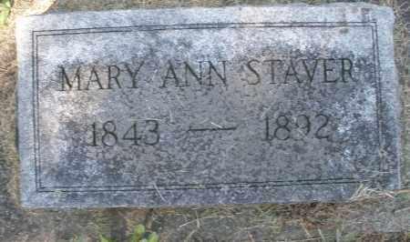 STAVER, MARY ANN - Montgomery County, Ohio | MARY ANN STAVER - Ohio Gravestone Photos