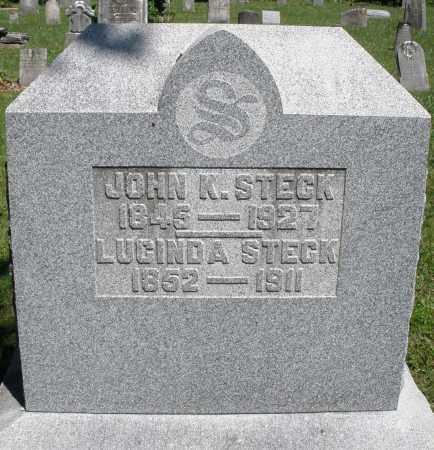 STECK, LUCINDA - Montgomery County, Ohio | LUCINDA STECK - Ohio Gravestone Photos