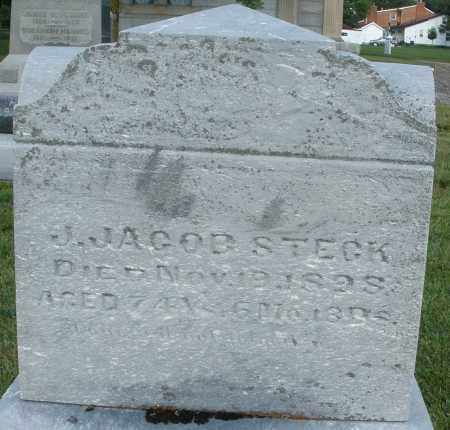 STECK, J. JACOB - Montgomery County, Ohio   J. JACOB STECK - Ohio Gravestone Photos