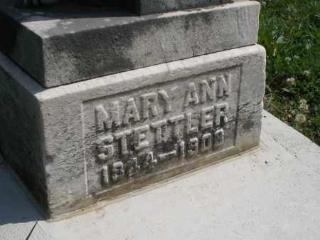 STETTLER, MARY ANN - Montgomery County, Ohio | MARY ANN STETTLER - Ohio Gravestone Photos