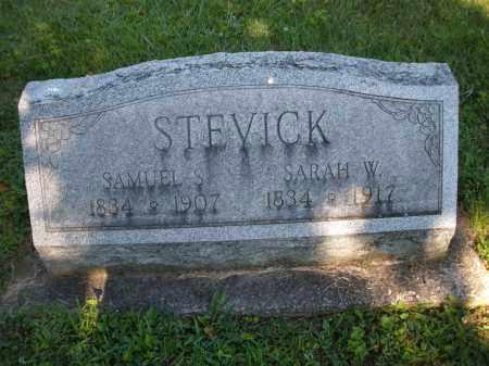 STEVICK, SAMUEL S. - Montgomery County, Ohio   SAMUEL S. STEVICK - Ohio Gravestone Photos