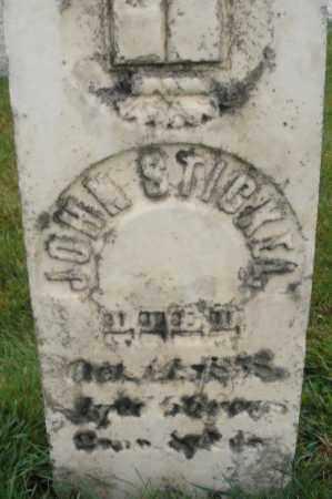 STICKEL, JOHN - Montgomery County, Ohio | JOHN STICKEL - Ohio Gravestone Photos
