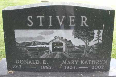 STIVER, DONALD E. - Montgomery County, Ohio | DONALD E. STIVER - Ohio Gravestone Photos