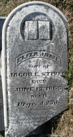 STIVER, ELIZA JANE - Montgomery County, Ohio | ELIZA JANE STIVER - Ohio Gravestone Photos