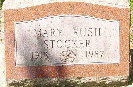 RUSH STOCKER, MARY FLORENCE - Montgomery County, Ohio | MARY FLORENCE RUSH STOCKER - Ohio Gravestone Photos