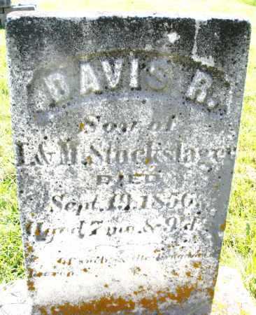 STOCKSLAGER, DAVIS R. - Montgomery County, Ohio | DAVIS R. STOCKSLAGER - Ohio Gravestone Photos