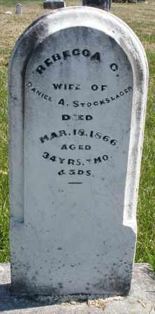 STOCKSLAGER, REBECCA - Montgomery County, Ohio   REBECCA STOCKSLAGER - Ohio Gravestone Photos