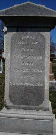 STOCKSLAGER, SARAH - Montgomery County, Ohio   SARAH STOCKSLAGER - Ohio Gravestone Photos