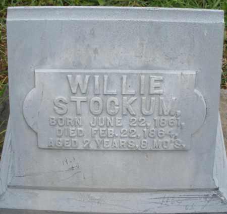 STOCKUM, WILLIE - Montgomery County, Ohio | WILLIE STOCKUM - Ohio Gravestone Photos