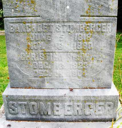 STOMBERGER, CHRISTINA - Montgomery County, Ohio | CHRISTINA STOMBERGER - Ohio Gravestone Photos