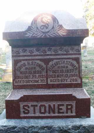 STONER, DAVID H. - Montgomery County, Ohio   DAVID H. STONER - Ohio Gravestone Photos