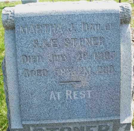 STONER, MARTHA J. - Montgomery County, Ohio | MARTHA J. STONER - Ohio Gravestone Photos