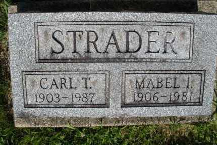 STRADER, MABEL I. - Montgomery County, Ohio | MABEL I. STRADER - Ohio Gravestone Photos