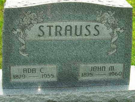 STRAUSS, JOHN M - Montgomery County, Ohio | JOHN M STRAUSS - Ohio Gravestone Photos