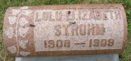 STROHM, LULU ELIZABETH - Montgomery County, Ohio | LULU ELIZABETH STROHM - Ohio Gravestone Photos
