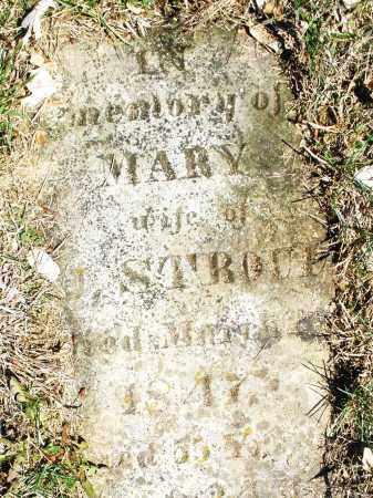 STROUP, MARY - Montgomery County, Ohio   MARY STROUP - Ohio Gravestone Photos