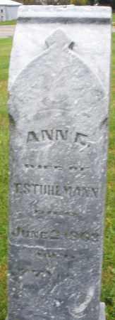 STUHLMAN, ANN - Montgomery County, Ohio   ANN STUHLMAN - Ohio Gravestone Photos
