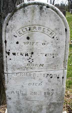 STUMP, ELIZABETH - Montgomery County, Ohio | ELIZABETH STUMP - Ohio Gravestone Photos
