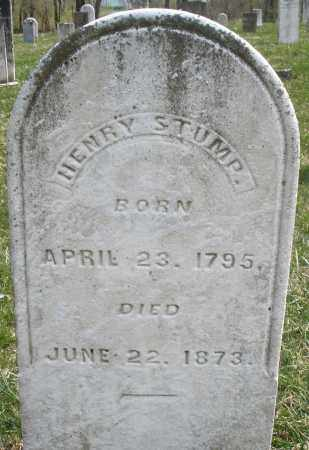 STUMP, HENRY - Montgomery County, Ohio | HENRY STUMP - Ohio Gravestone Photos