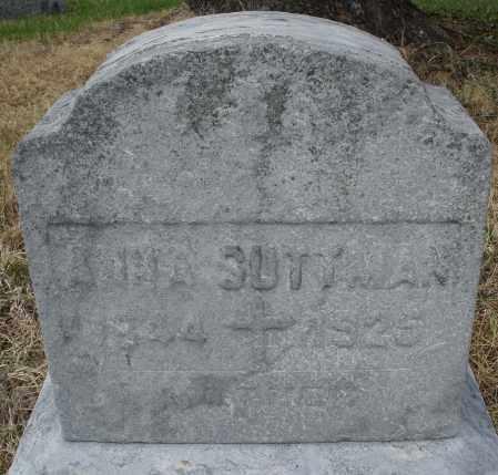 SUTTMAN, ANNA - Montgomery County, Ohio   ANNA SUTTMAN - Ohio Gravestone Photos