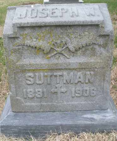 SUTTMAN, JOSEPH W. - Montgomery County, Ohio | JOSEPH W. SUTTMAN - Ohio Gravestone Photos