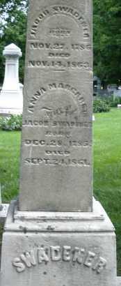 SWADENER, ANNA MARGARET - Montgomery County, Ohio   ANNA MARGARET SWADENER - Ohio Gravestone Photos