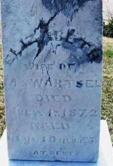 SWARTSEL, ELIZABETH - Montgomery County, Ohio | ELIZABETH SWARTSEL - Ohio Gravestone Photos