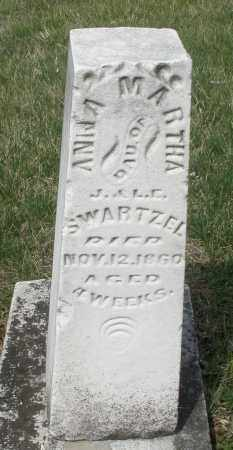 SWARTZEL, ANNA MARTHA - Montgomery County, Ohio | ANNA MARTHA SWARTZEL - Ohio Gravestone Photos