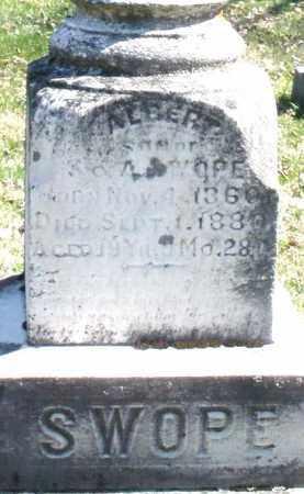 SWOPE, ALBERT - Montgomery County, Ohio | ALBERT SWOPE - Ohio Gravestone Photos